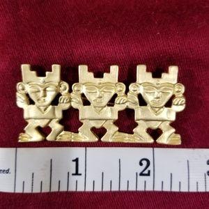 Tribal golden brooch